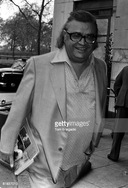 Author Mario Puzo at the Dorchester Hotel circa 1980 in London England