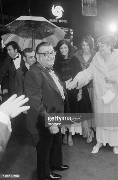 Author Mario Puzo at the premier of the movie The Godfather