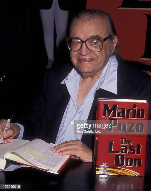 Author Mario Puzo attends the book party for Mario Puzo The Last Don on July 23 1996 at Barnes And Noble in New York City