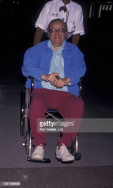 Author Mario Puzo sighted on August 8 1996 at the Los Angeles International Airport in Los Angeles California