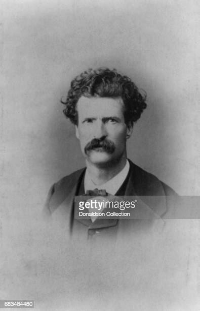 Author Mark Twain poses for a portrait in 1867