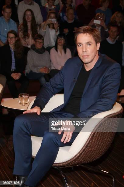 Author Markus Feldenkirchen during the 'Markus Lanz' TV show on March 29 2018 in Hamburg Germany