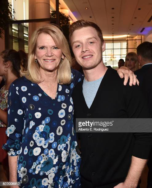 Author Martha Radatz and actor Noel Fisher attend the 2017 Summer TCA Tour National Geographic Party at The Waldorf Astoria Beverly Hills on July 24...