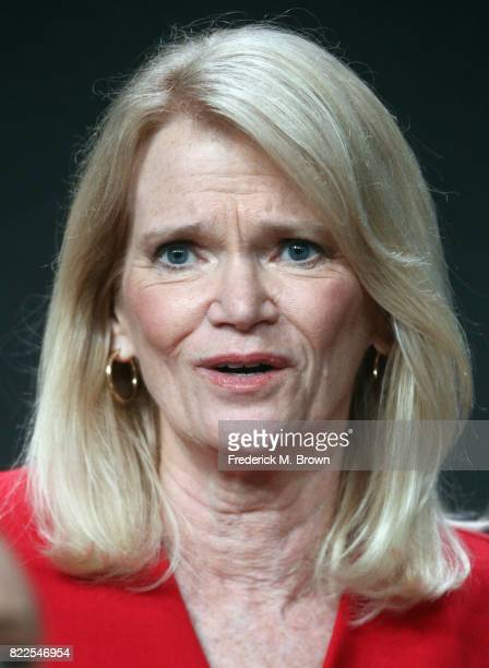 Author Martha Raddatz of 'The Long Road Home' speaks onstage during the National Geographic Channels portion of the 2017 Summer Television Critics...