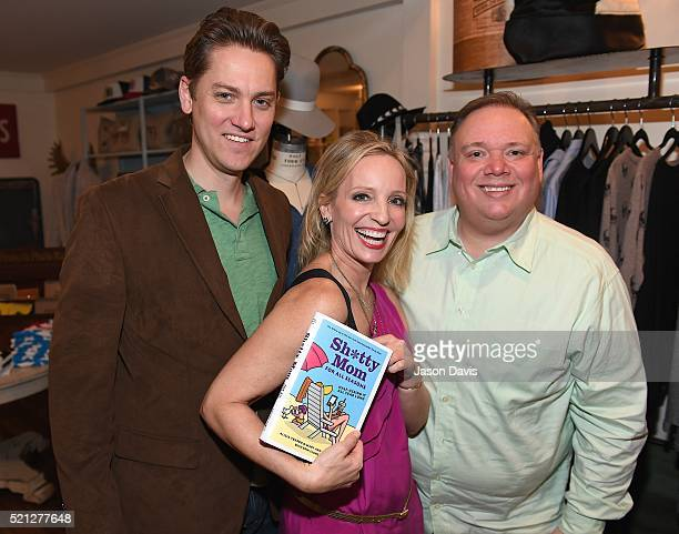Author Mary Ann Zoellner and WebsterPR's Jeremy Westby and Kirt Webster attend the 'Sh*tty Mom For All Seasons' Nashville Book Release Party at...