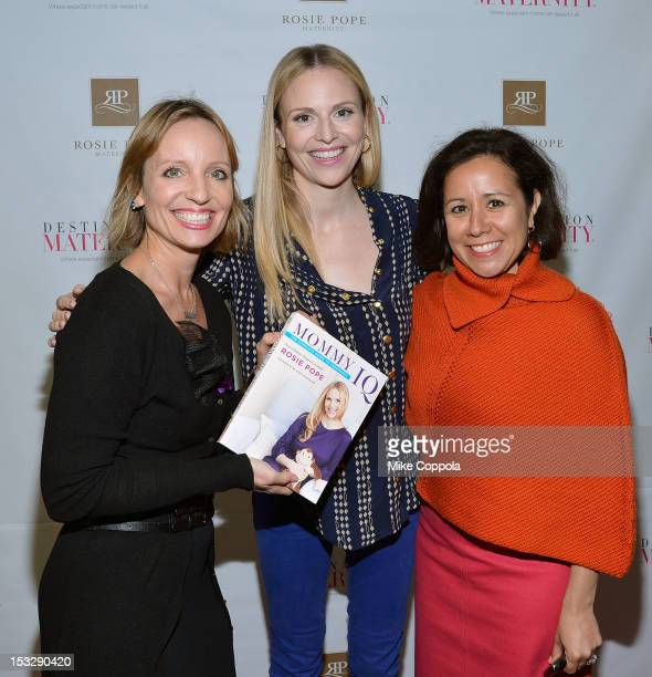 Author Mary Ann Zoellner television personality/author Rosie Pope and author Alicia Ybarbo help launch her first book at Destination Maternity on...