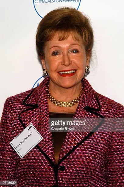 Author Mary Higgins Clark attends the CityMealsOnWheels 17th Annual Power Luncheon for Women at the Rainbow Room November 20 2003 in New York City...