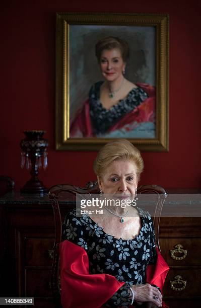 Author Mary Higgins Clark is photographed at home for Wall Street Journal on March 23 2011 in Saddle River New Jersey Published image