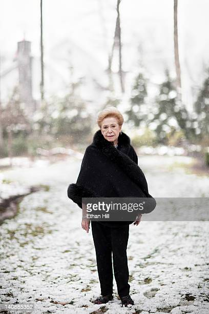 Author Mary Higgins Clark is photographed at home for Wall Street Journal on March 23 2011 in Saddle River New Jersey