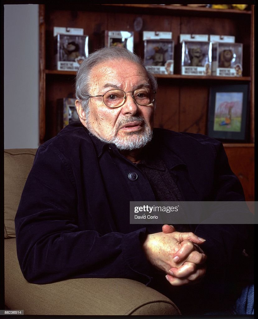 Author Maurice Sendak poses for a portrait at his home on September 7, 2003 in Connecticut.