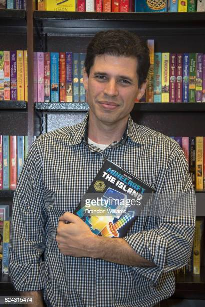 Author Max Brooks at his signing for book Minecraft The Island at Barnes Noble at The Grove on July 29 2017 in Los Angeles California