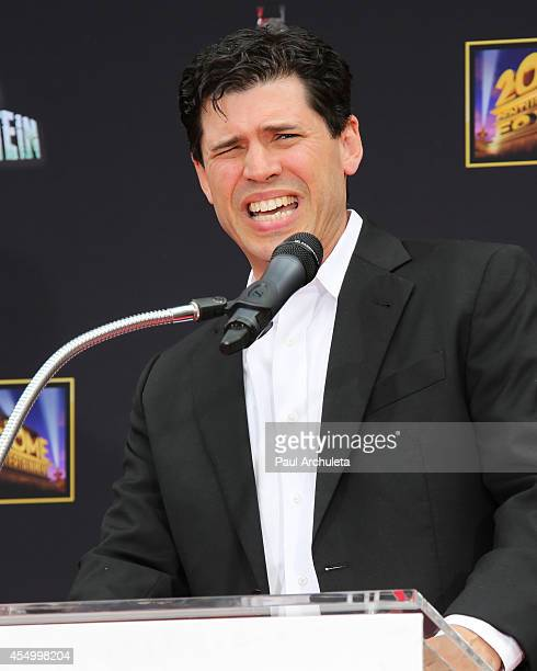 Author Max Brooks attends the Hands and Footprint Ceremony for Mel Brooks at the TCL Chinese Theatre on September 8 2014 in Hollywood California