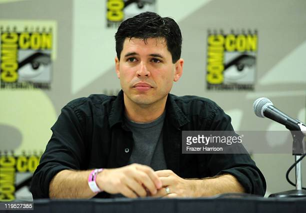 Author Max Brooks speaks at Deadliest Warrior Vampires Vs Zombies Panel during ComicCon 2011 on July 21 2011 in San Diego California