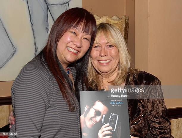 Author May Pang and Cynthia Lennon at May Pang's launch party for her book 'Instamatic Karma' at The Cutting Room on March 11 2008 in New York City