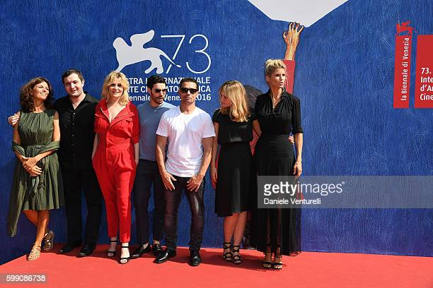 Author Maylis de Kerangal actor Karim Leklou actors Emmanuelle Seigner Tahar Rahim Kool Shen director Katell Quillevere and actress Alice Taglioni...