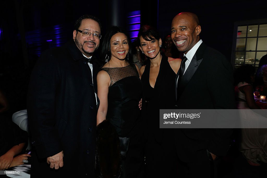 Author Michael Dyson, Marcia Dyson, Samantha Davis and Senior Vice President of Programming at HBO Sports Kery Davis attend the Inaugural Ball hosted by BET Networks at Smithsonian American Art Museum & National Portrait Gallery on January 21, 2013 in Washington, DC.