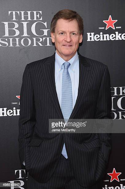 Author Michael Lewis attends the premiere of 'The Big Short' at Ziegfeld Theatre on November 23 2015 in New York City