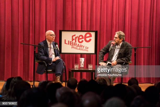 Author Michael Wolff discusses his controversial book on the Trump administration titled 'Fire and Fury' with Dick Polman on January 16 2018 in...
