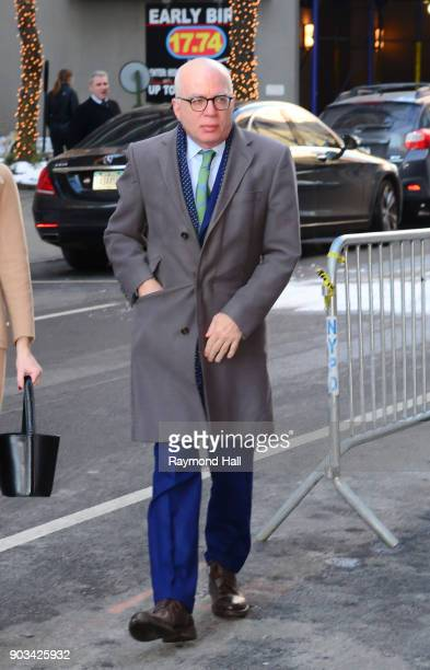 Author Michael Wolff is seen arriving at the 'View' on January 10 2018 in New York City