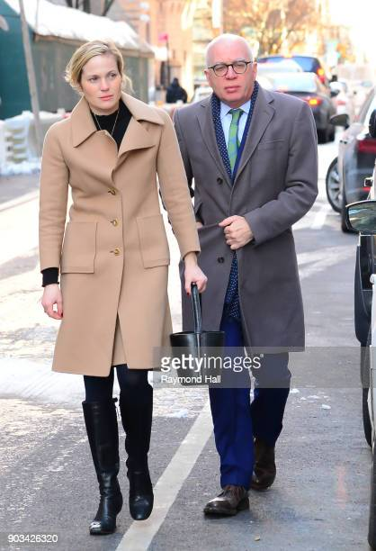 Author Michael Wolff seen arriving at the 'View' on January 10 2018 in New York City