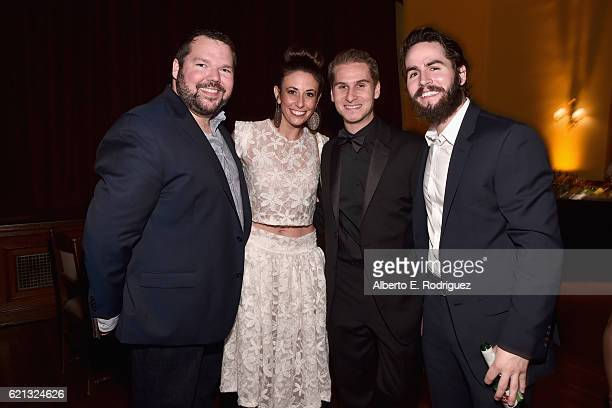 Author MJ Dougherty actress Katy Bodenhamer agent Brandon Cohen and actor Patrick Hickman attend the International Myeloma Foundation 10th Annual...