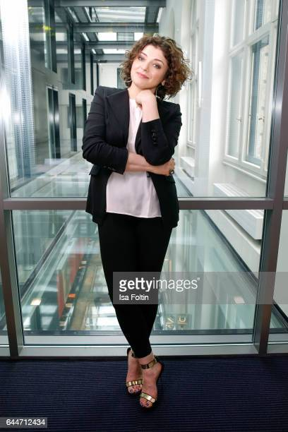 Author Nahid Shahalimi poses during a photo session at Sofitel Munich Bayerpost on February 23 2017 in Munich Germany Shahalimi's book 'Wo Mut die...