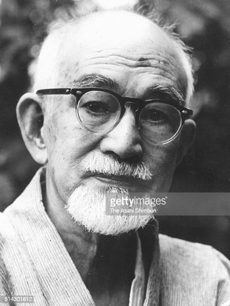 Author naoya Shiga is seen on August 30 1962 in Japan