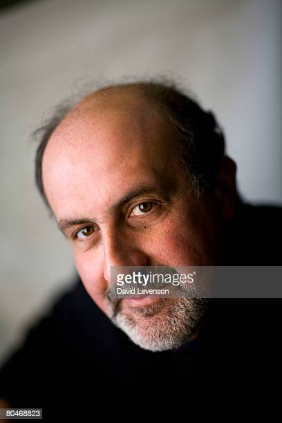 Author Nassim Taleb poses for a portrait at the annual Sunday Times Oxford Literary Festival held at Christ Church April 1 2008 in Oxford England