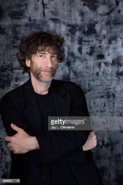 Author Neil Gaiman of 'American Gods' is photographed for Los Angeles Times at San Diego Comic Con on July 22 2016 in San Diego California