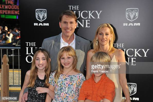 Author Nicholas Sparks and family arrive at the world ...