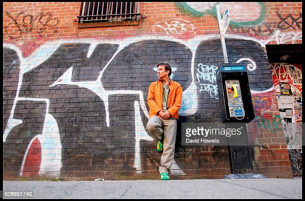 Author Nick Flynn who wrote 'Another Bullshit Night in Suck City' about meeting his homeless father in a shelter he was working in is photographed in...