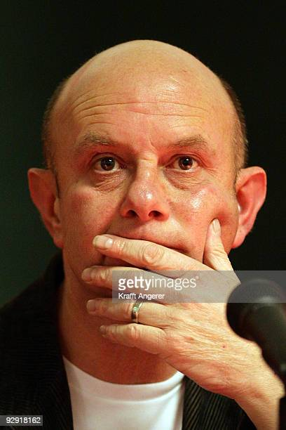 Author Nick Hornby reads from his book 'Juliet Naked' at the university of Hamburg on November 9 2009 in Hamburg Germany