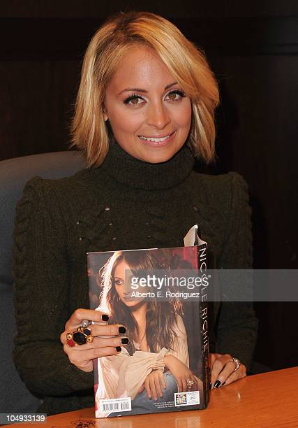 Author Nicole Richie signs copies of her book 'Priceless' at Barnes Noble at the Grove on October 6 2010 in Los Angeles California