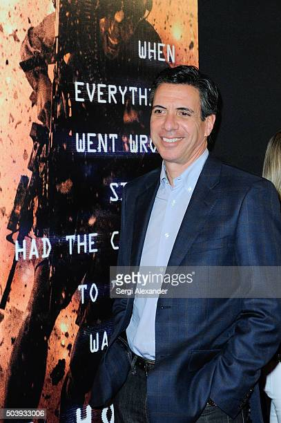 Author of 13 Hours Mitchell Zuckoff attends Miami Special Screening of '13 Hours The Secret Soldiers of Benghazi ' at Aventura Mall on January 7 2016...