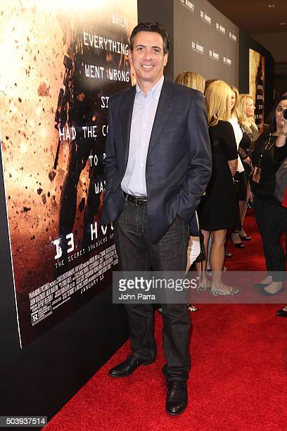 Author of '13 Hours' Mitchell Zuckoff attends the Miami Fan Screening of the Pramount Pictures film '13 Hours' at the AMC Aventura on January 7 2016...