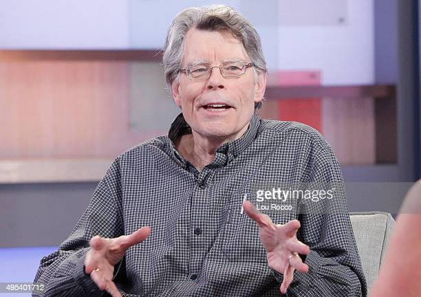 AMERICA Author of contemporary horror Stephen King is a guest on GOOD MORNING AMERICA 11/2/15 airing on the Walt Disney Television via Getty Images...