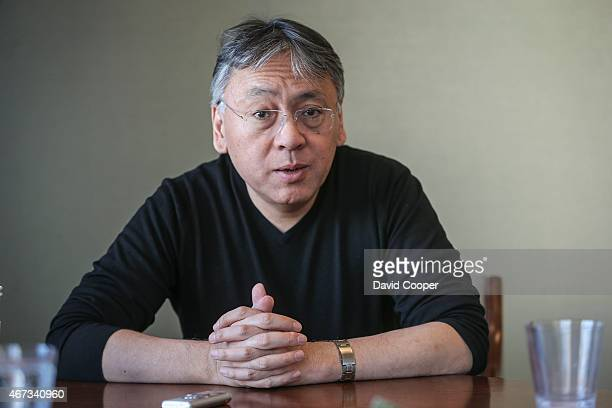 TORONTO ON MARCH 17 Author of The Buried Giant Kazuo Ishiguro for interview at Random House They made cookies with the logo of the cover of the book...