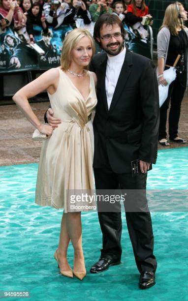 Author of the Harry Potter series JK Rowling and her husband Dr Neil Murray arrive to the UK premier of Harry Potter and the Order of the Phoenix at...