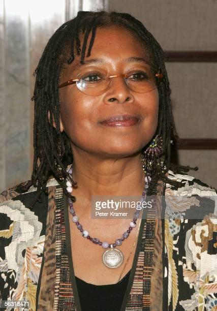 Author of the novel 'The Color Purple' Alice Walker attends the after party for the opening of 'The Color Purple' at the Broadway Theater on December...