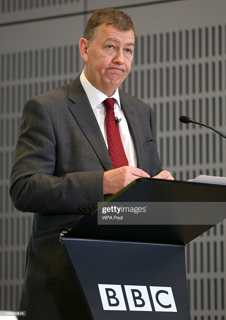 Author of the 'Pollard Review' Nick Pollard discusses his report during a press conference at BBC Broadcasting House on December 19, 2012 in London, England. The BBC Trust has announced the findings of the Pollard Review into the corporation's handling of sexual abuse allegations against former employee Jimmy Savile.