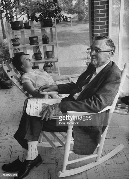 Author of To Kill a Mockingbird Harper Lee with her father.