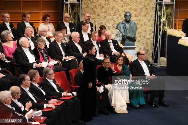 Author Olga Tokarczuk laureate of the Nobel Prize in Literature 2018 attends the Nobel Prize Awards Ceremony at Concert Hall on December 10 2019 in...