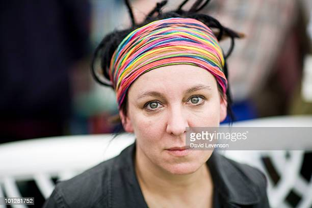 Author Olga Tokarczuk poses for a portrait at The Hay Festival on May 30 2010 in HayonWye Wales The Annual Hay Festival of Literature Arts is held in...