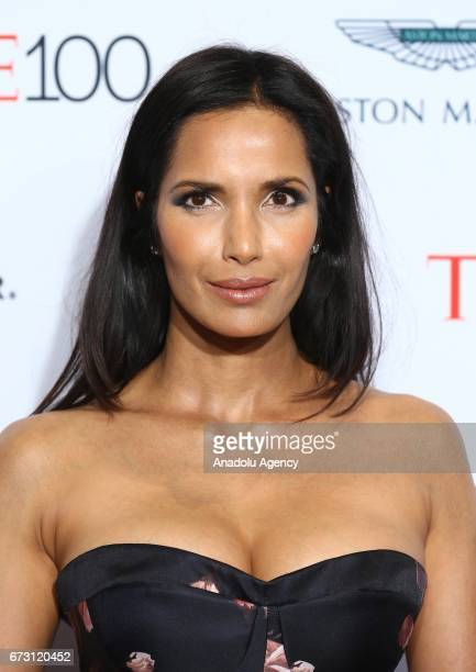 Author Padma Lakshmi attends the 2017 TIME 100 Gala at Jazz at Lincoln Center in New York United States on April 25 2017