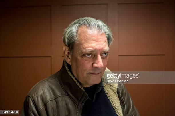 Author Paul Auster poses for a portrait at the FT Weekend Oxford Literary Festival on March 8 2017 in Oxford England Bestselling US author Auster's...
