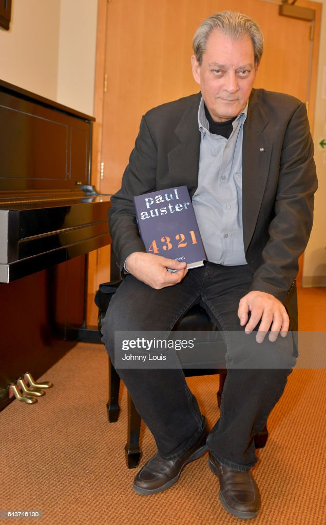 Author Paul Auster poses for portrait before A Evening with Paul Auster & friends! MUSIC, MAGIC &