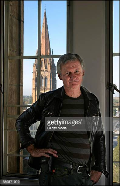 Author Paul Jennings in his Melbourne City apartment THE SATURDAY AGE Books Picture By CATHRYN TREMAIN
