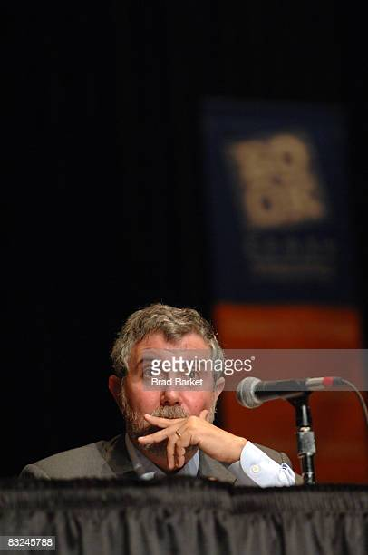 Author Paul Krugman speaks at the Saturday Book and Author Luncheon at the Book Expo at the Jacob Javits Center June 2, 2007 in New York City. It was...
