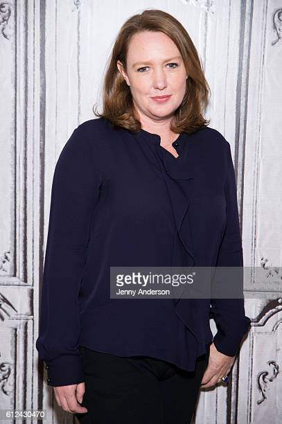 Author Paula Hawkins attends AOL Build Series to discuss the new film Girl On The Train at AOL HQ on October 4 2016 in New York City