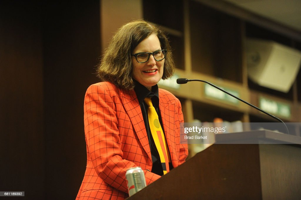 Author Paula Poundstone signs copies of her new book 'The Totally Unscientific Study Of The Search For Human Happiness' at Barnes & Noble 82nd Street on May 9, 2017 in New York City.